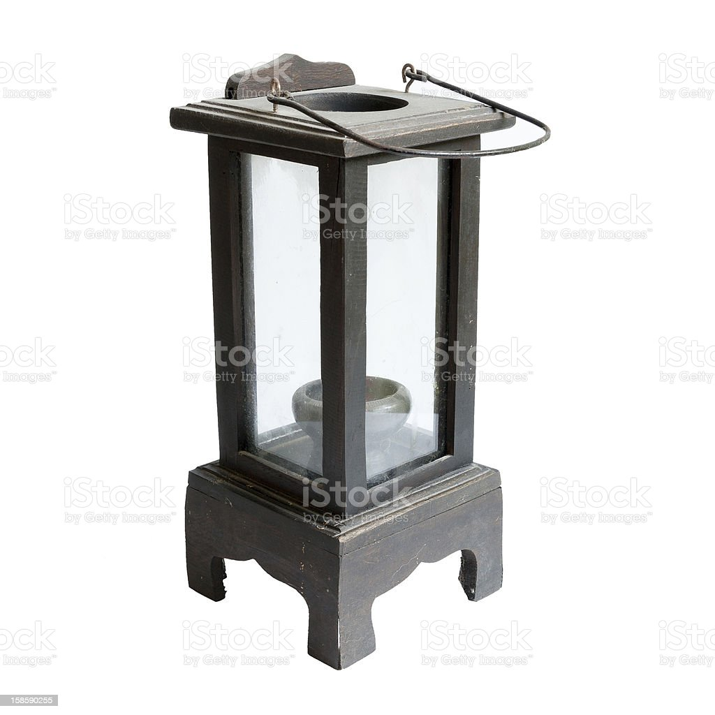 black wooden lantern royalty-free stock photo