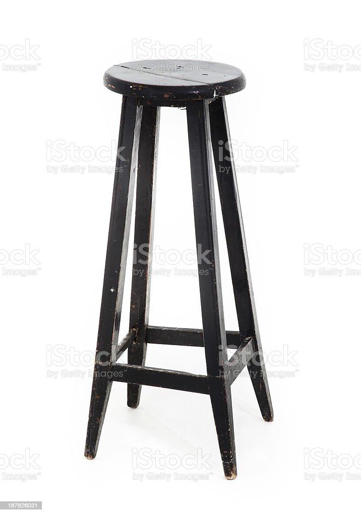 Black Wooden Stool royalty-free stock photo