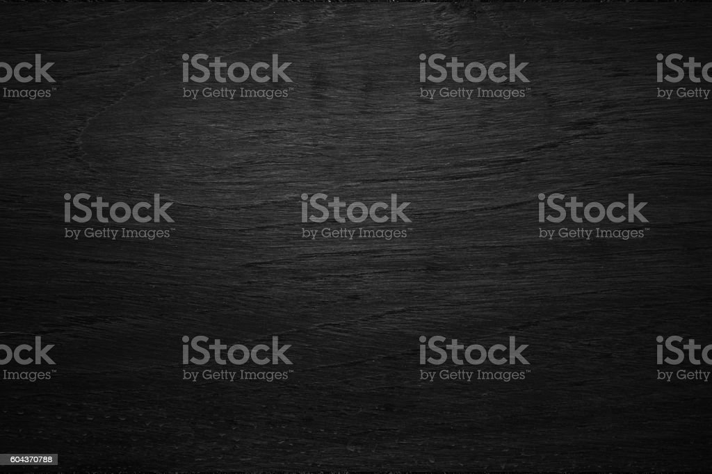 Black wooden texture background blank for design – Foto