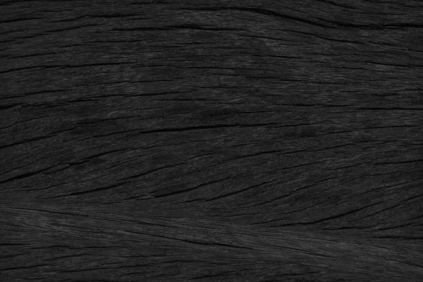 Black wooden texture background blank for design stock photo