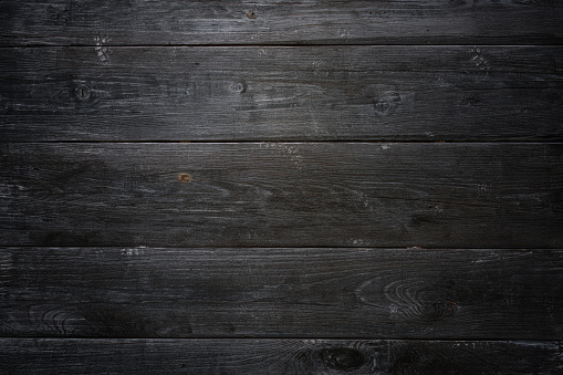 Black old wooden texture