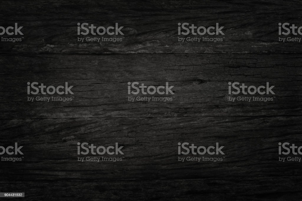 Black wooden wall background, texture of dark bark wood with old natural pattern for design art work, top view of grain timber. стоковое фото