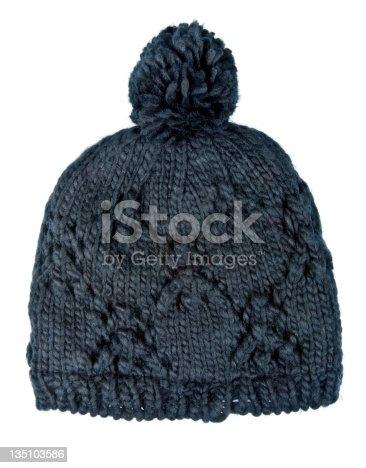 istock Black Wool Hat 135103586