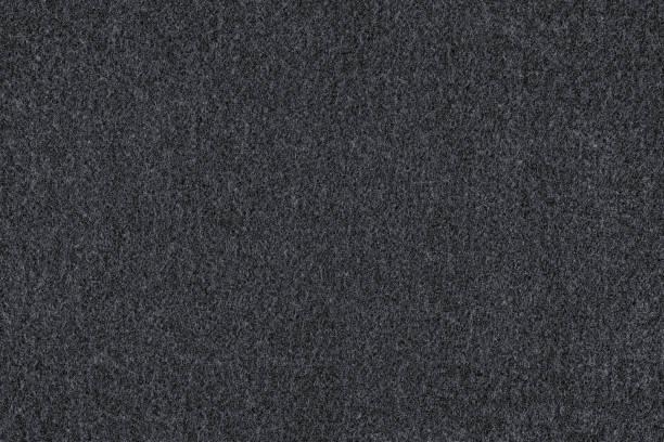 schwarzer wolle textur und hintergrund - teppich baumwolle stock-fotos und bilder