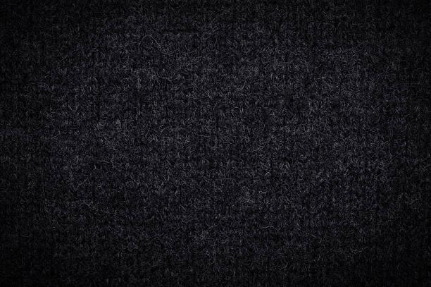 Black wool texture stock photo