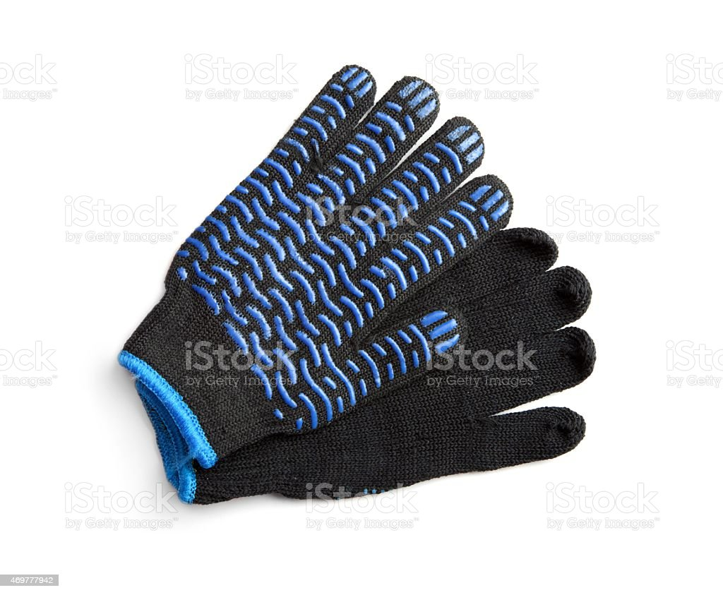Black Work Gloves stock photo