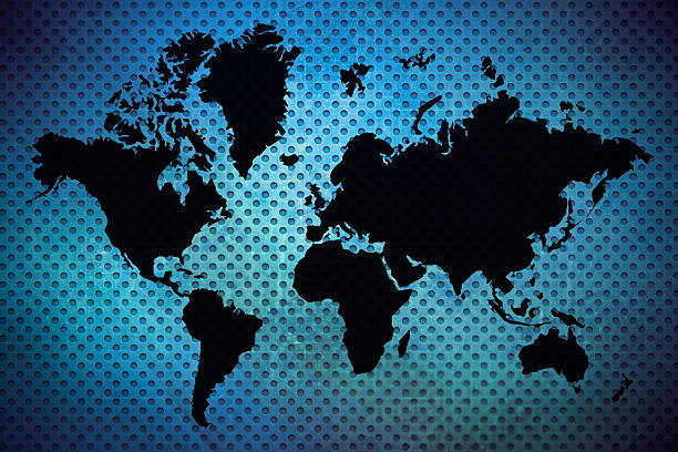 Royalty free simple map pictures images and stock photos istock black world map on blue background stock photo gumiabroncs Image collections