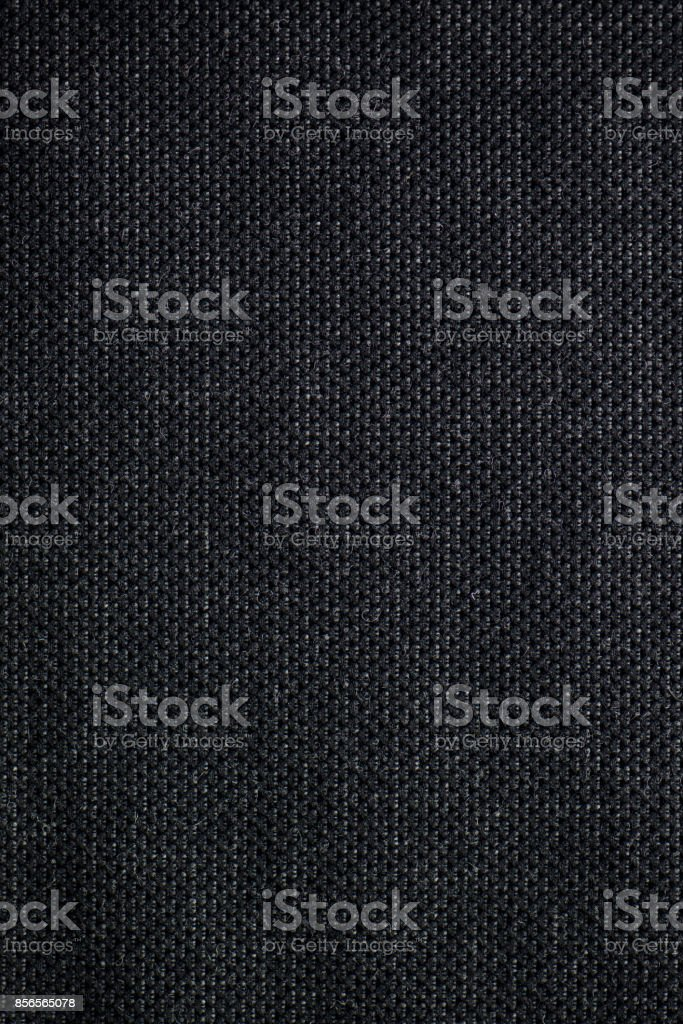 Black Woven Textile Fabric Swatch stock photo