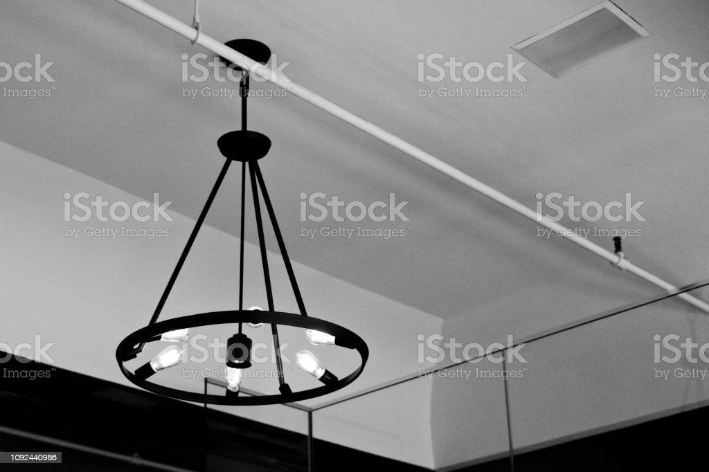 Black Wrought Iron Chandelier Stock Photo Download Image Now Istock