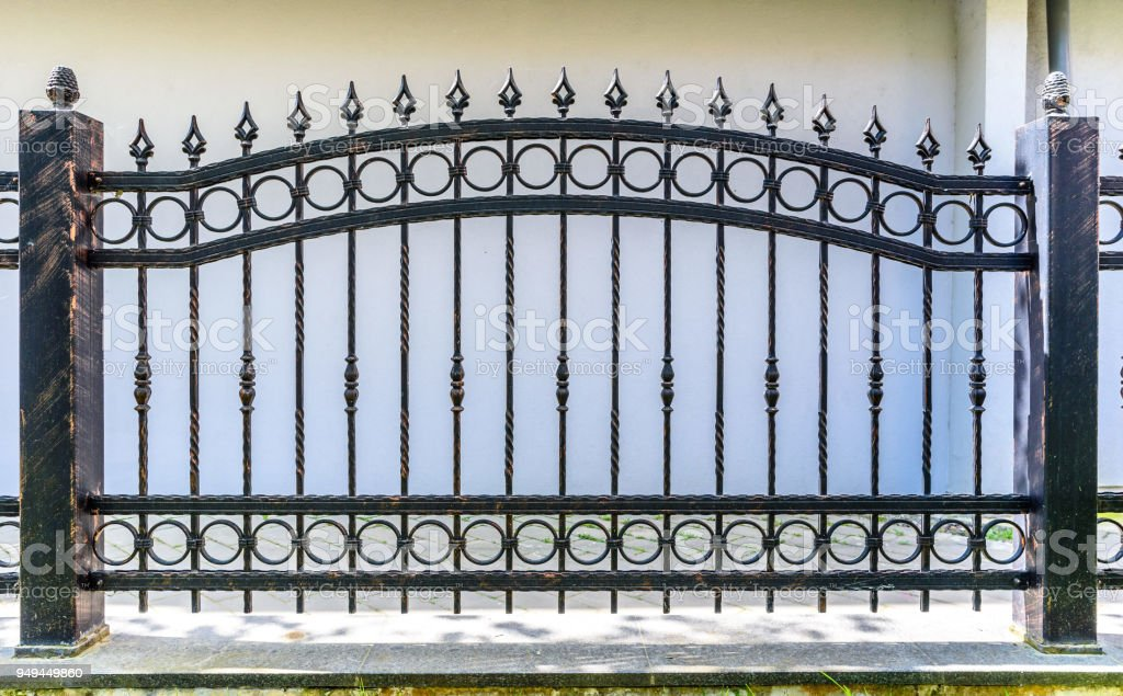 Picture of: Black Wrought Iron Fence Stock Photo Download Image Now Istock