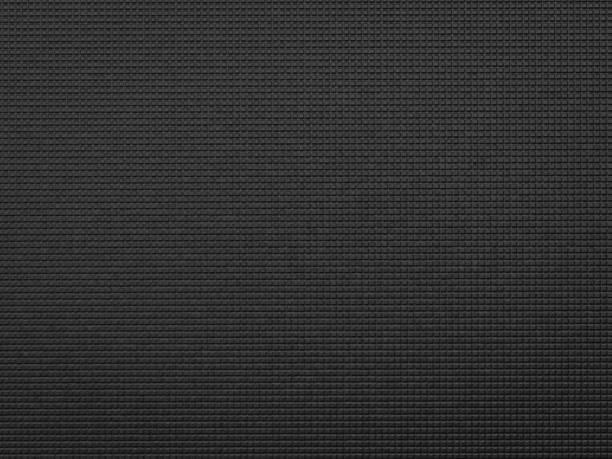 black yoga mat - materiale gommoso foto e immagini stock