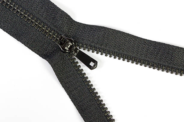 Negro con cremallera - foto de stock