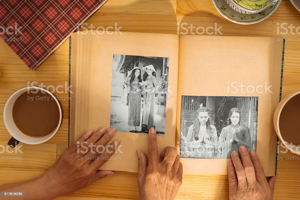 Black-and-white photos stock photo