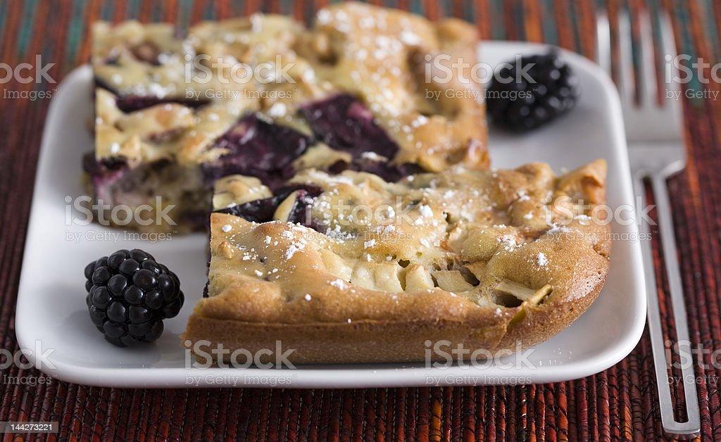 Blackberry and apple pie stock photo