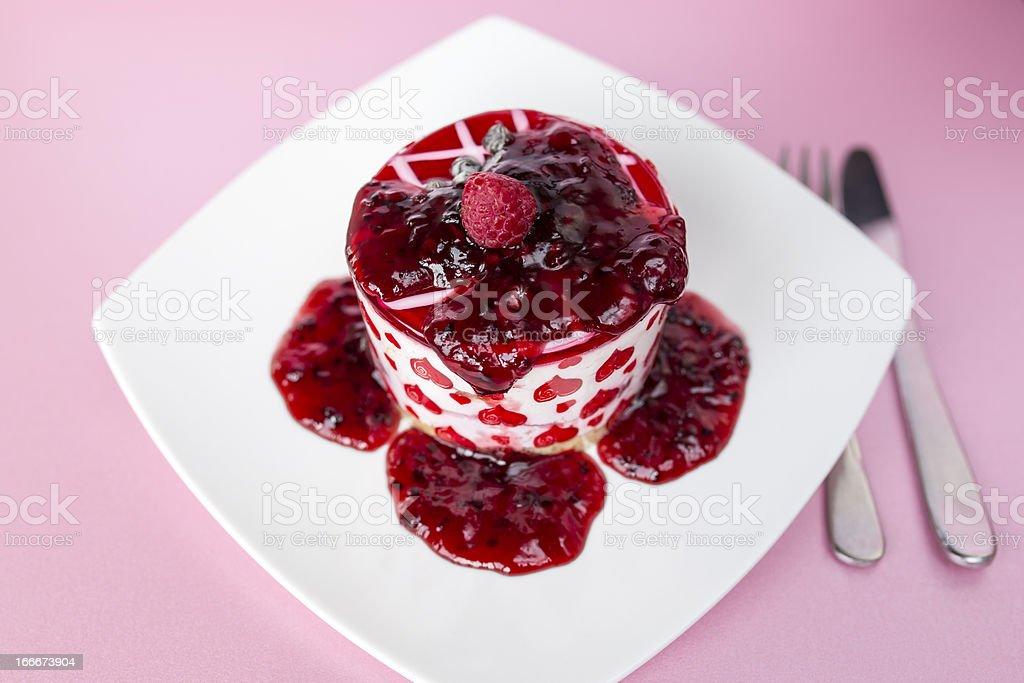 Blackberry cake royalty-free stock photo