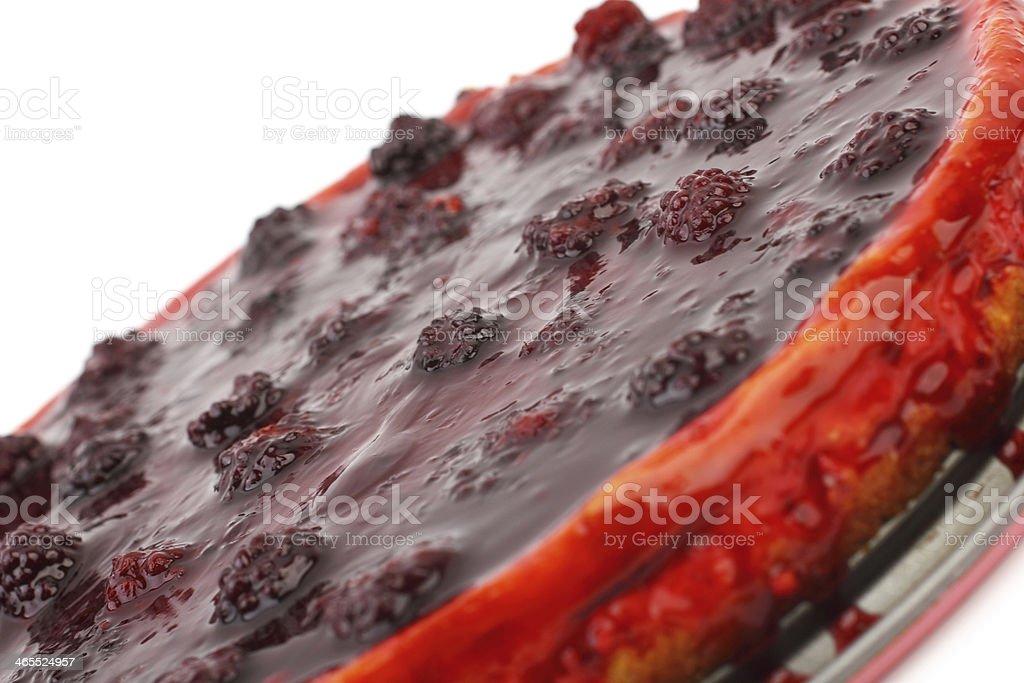 Blackberry cheesecake royalty-free stock photo