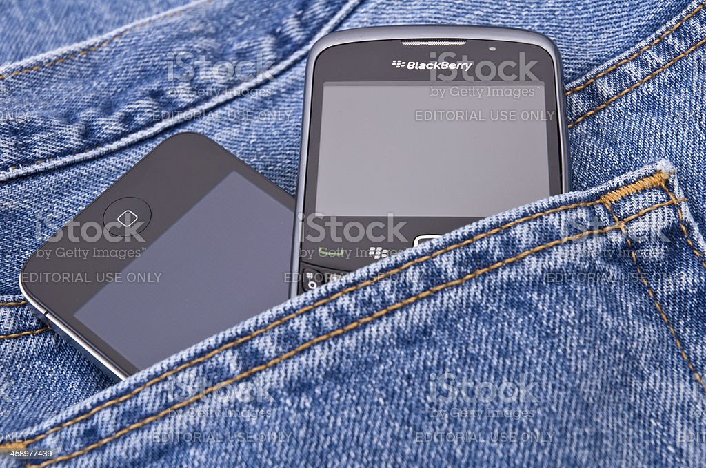 BlackBerry & iPhone - ready to use royalty-free stock photo