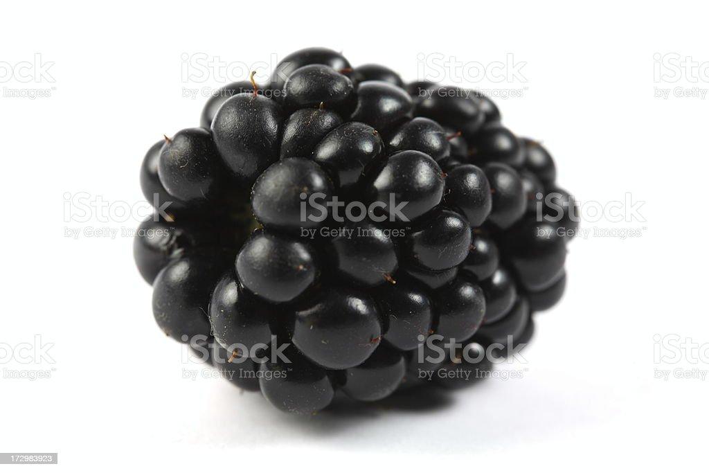 Blackberry - Isolated on White royalty-free stock photo