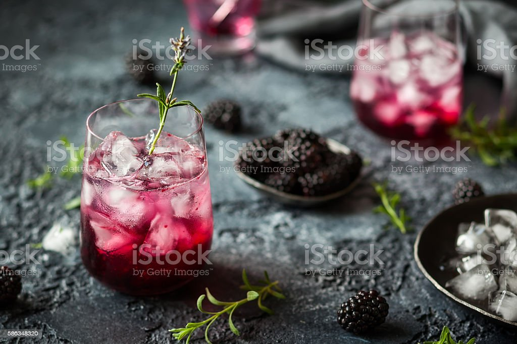 Blackberry Lemonade stock photo
