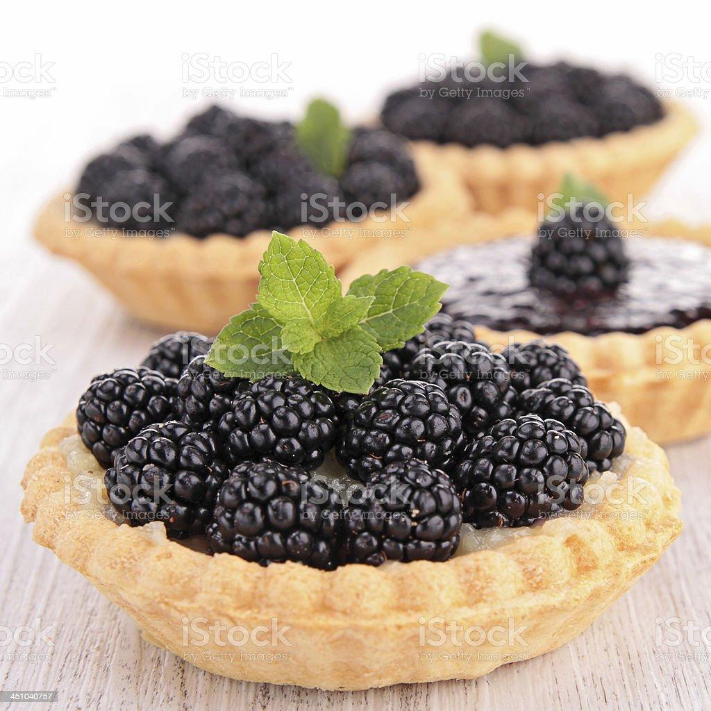 blackberry pastry stock photo
