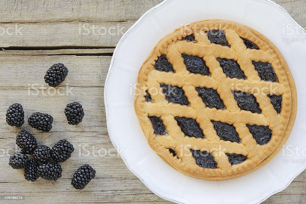 Blackberry pie stock photo