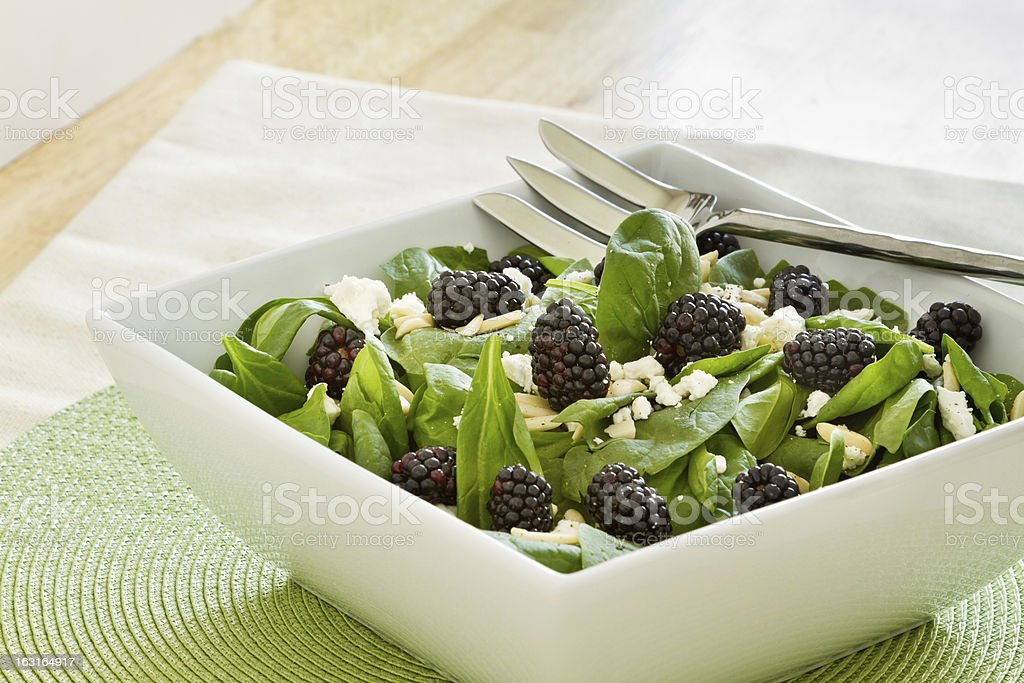 Blackberry Spinach Salad royalty-free stock photo