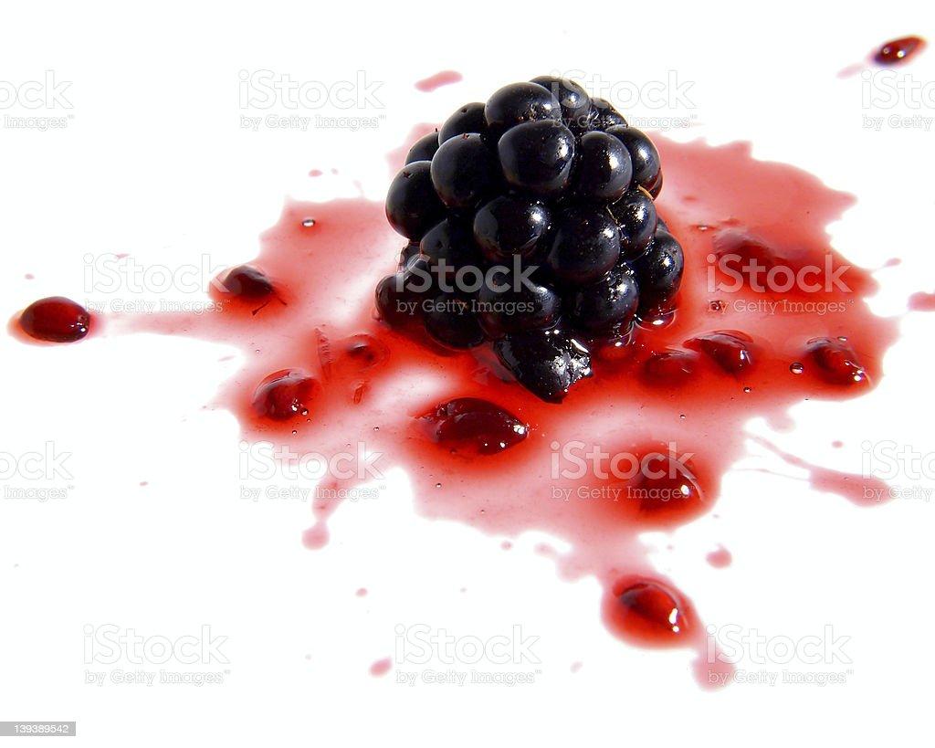 Blackberry splash royalty-free stock photo