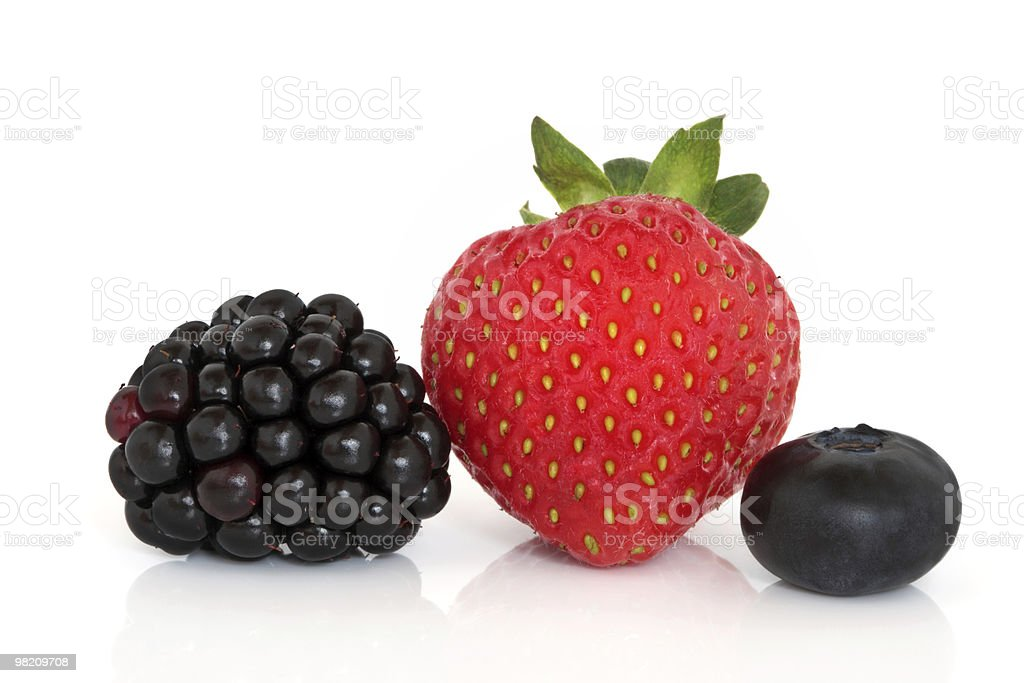 Blackberry, Strawberry and Blueberry Fruit royalty-free stock photo
