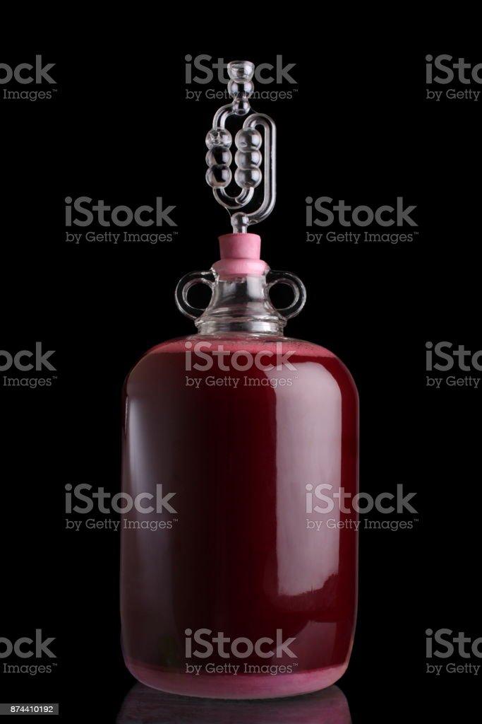 Blackberry wine stock photo