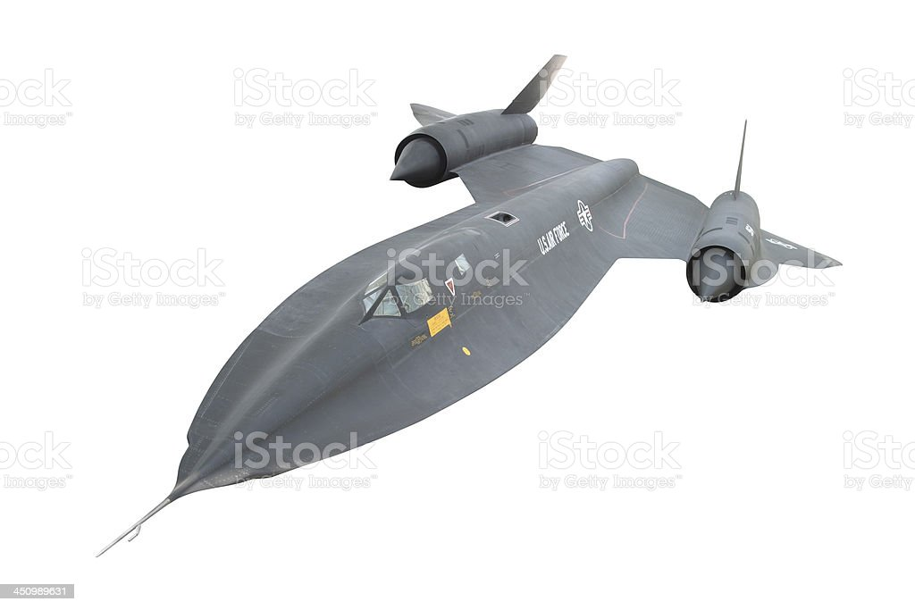 SR-71 Blackbird with Clipping Path stock photo