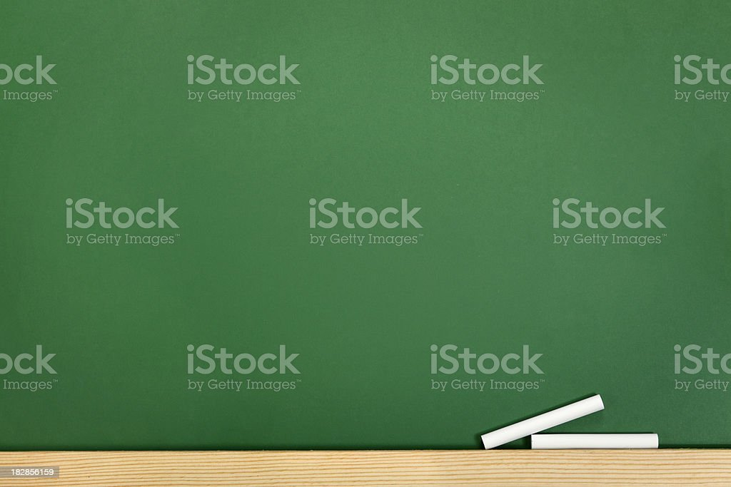 Blackboard and chalk royalty-free stock photo