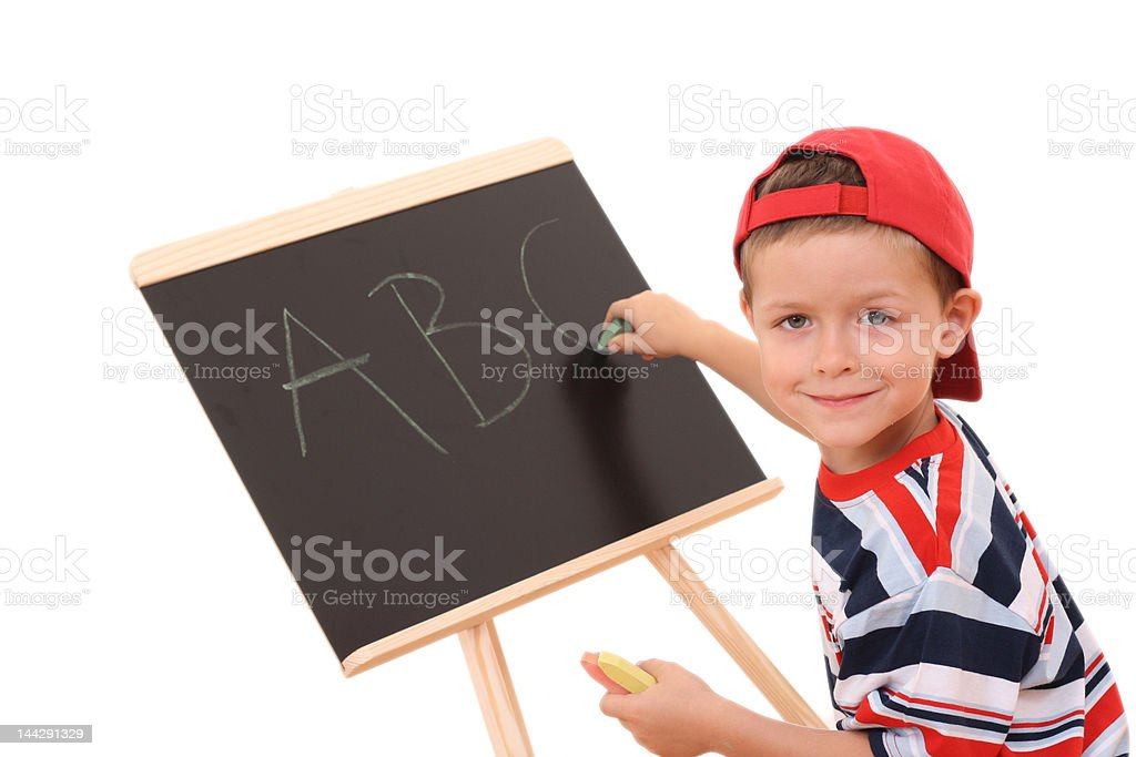 blackboard and child royalty-free stock photo