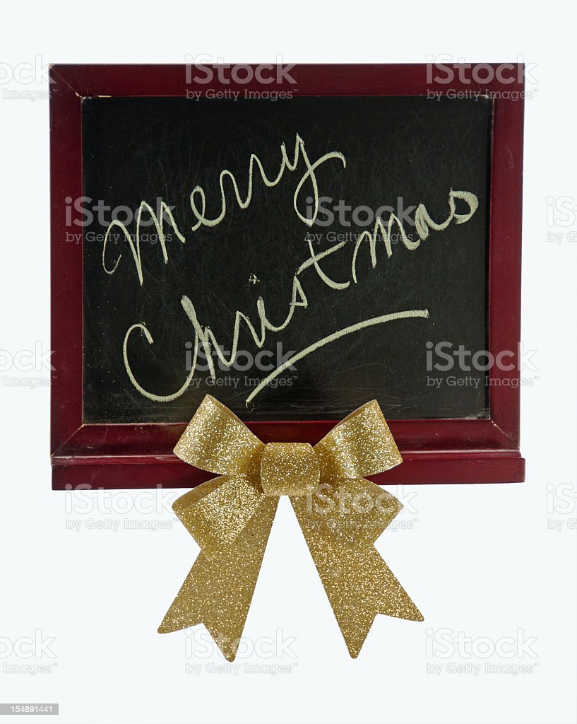Blackboard and Merry Christmas royalty-free stock photo