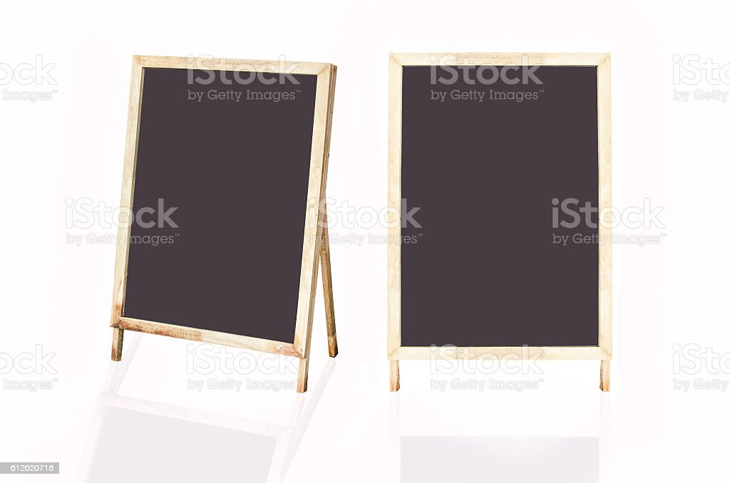 Blackboard and wood frame backgrounds - Photo