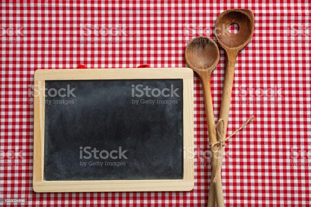 Photo Libre De Droit De Tableau Noir Et Ustensiles De Cuisine En