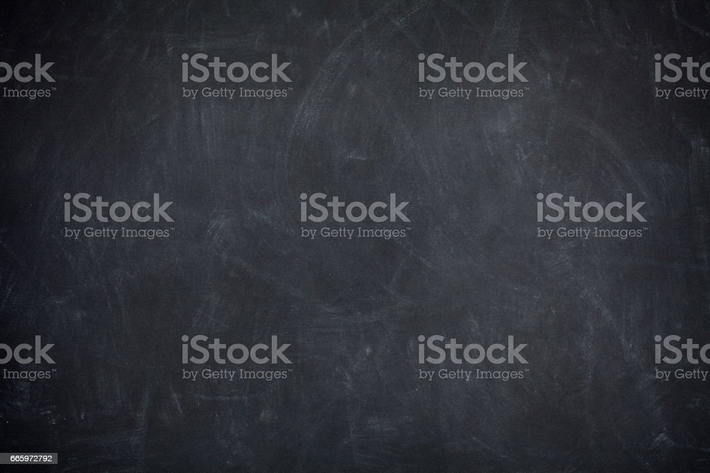 Blackboard Background - Black Textured Chalkboard stock photo