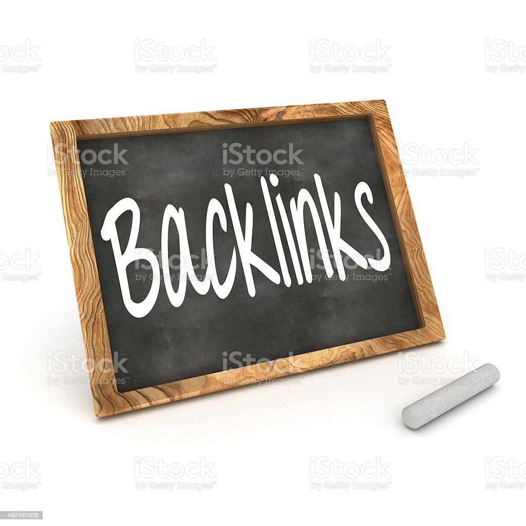 Blackboard Backlinks royalty-free stock photo
