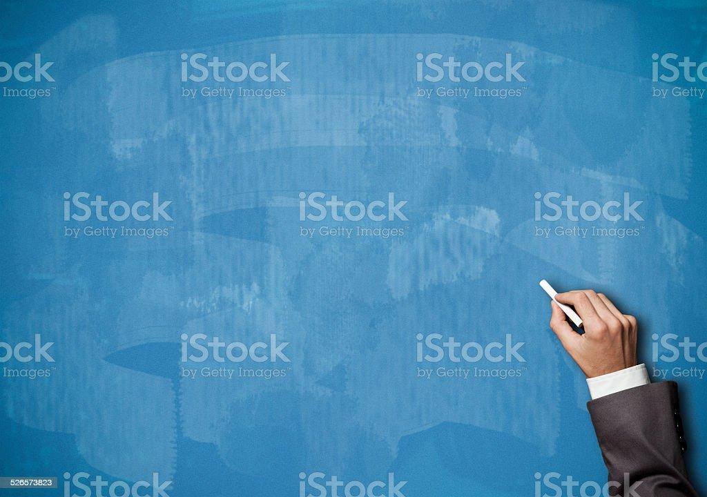 Pizarra/fondo azul (Haga clic para obtener más información) - foto de stock
