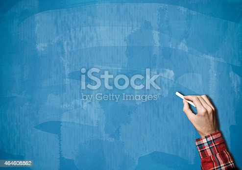 649719220 istock photo Blackboard / Blue Background (Click for more) - Stock Image 464608862
