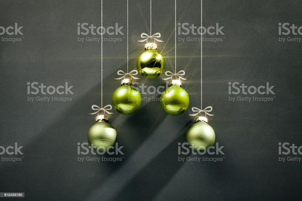 Blackboard Christmas Decoration - Green Bauble Tree - Photo