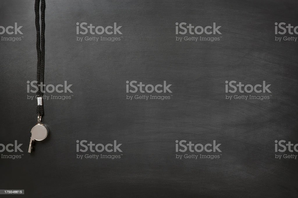 Blackboard Coach royalty-free stock photo
