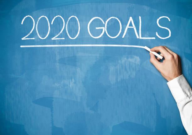 2020 GOALS / Blackboard concept (Click for more) stock photo