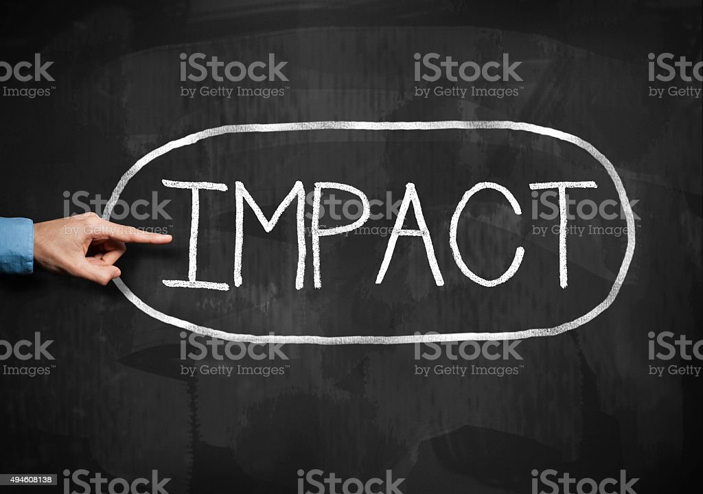 IMPACT  / Blackboard concept (Click for more) stock photo
