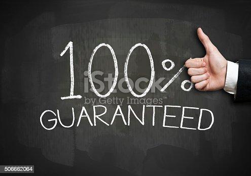 istock 100 GUARANTEED / Blackboard concept (Click for more) 506662064