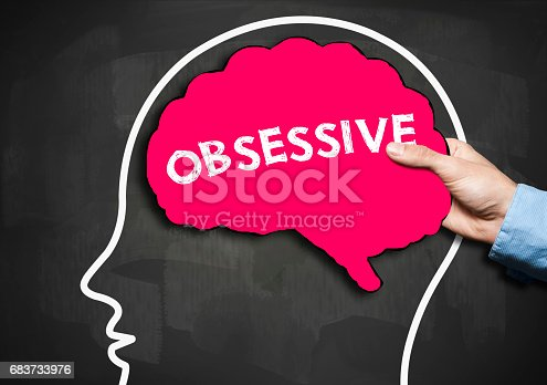 1175869940istockphoto OBSESSIVE / Blackboard concept (Click for more) 683733976