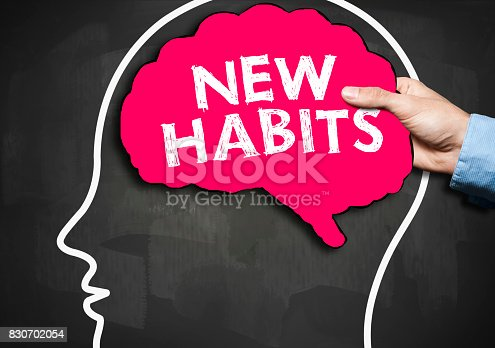 istock NEW HABITS / Blackboard concept (Click for more) 830702054