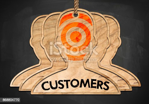 istock TARGET YOUR CUSTOMERS / Blackboard concept (Click for more) 868804770