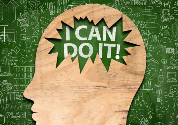 ich kann es tun! / blackboard konzept (klick für mehr) - männer zitate stock-fotos und bilder