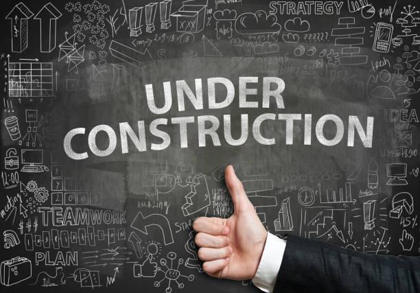 UNDER CONSTRUCTION / Blackboard concept (Click for more) - foto stock