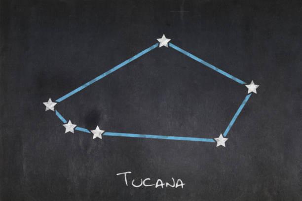 Blackboard - Constellation Tucana stock photo